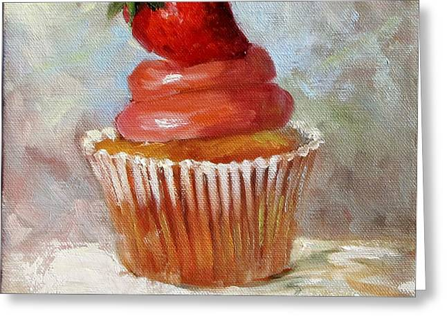 Stawberry Topped Cupcake Greeting Card