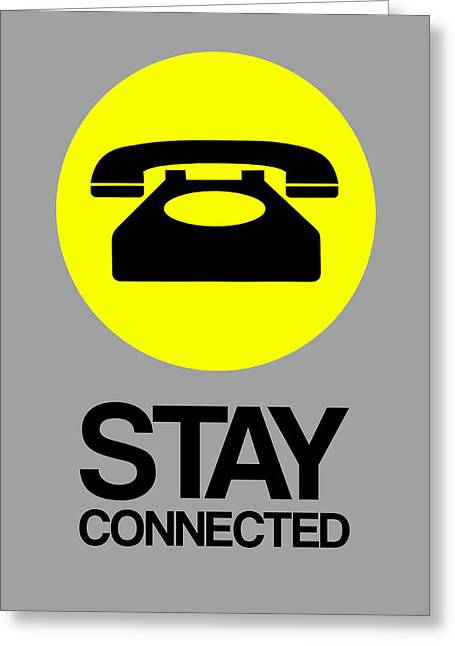 Stay Connected 1 Greeting Card by Naxart Studio