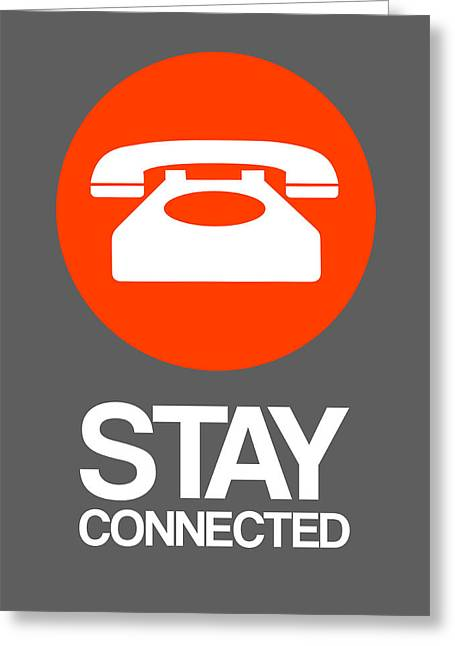 Stay Connected 2 Greeting Card by Naxart Studio