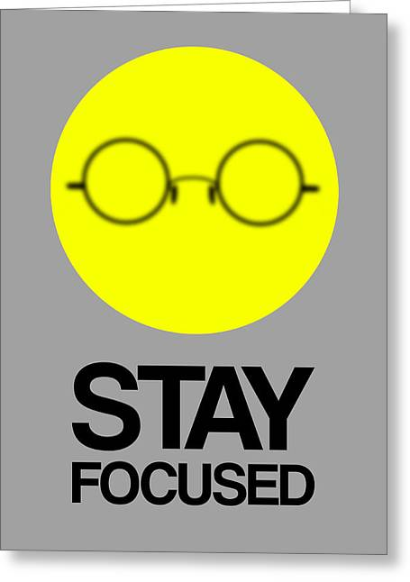 Stay Focused Circle Poster 2 Greeting Card by Naxart Studio