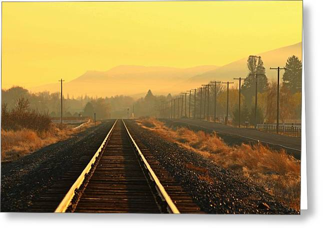 Greeting Card featuring the photograph Stay On Track by Lynn Hopwood