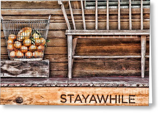Stayawhile Greeting Card