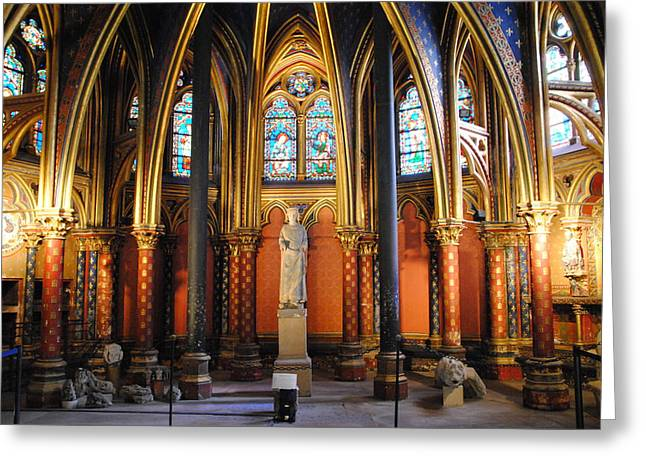 Ste.-chapelle Lower Chapel Greeting Card