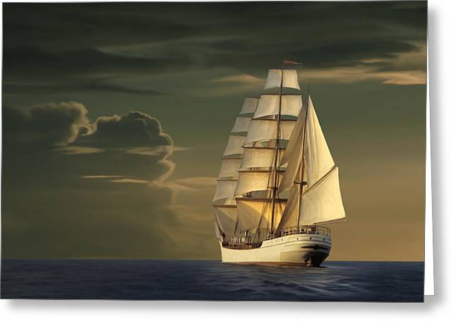 Steadfast Voyage Greeting Card by James Charles