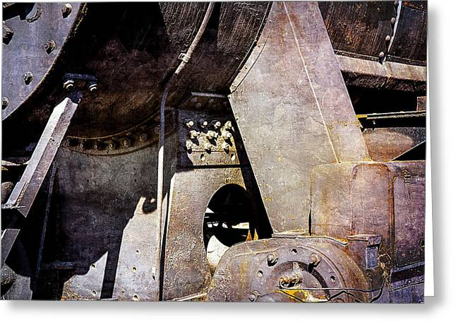 Steam And Iron - Industrial Metal Greeting Card by Alexander Senin
