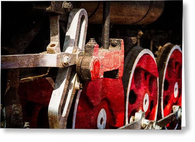 Steam And Iron - Link Motion Drive Greeting Card by Alexander Senin