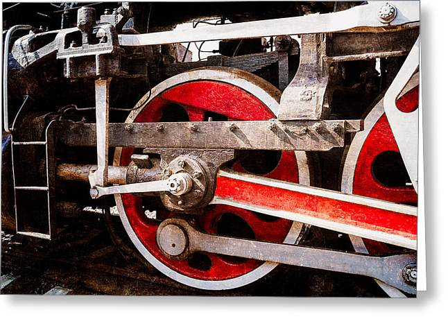 Steam And Iron - Power Drive Greeting Card by Alexander Senin