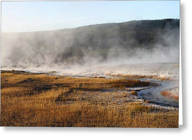Greeting Card featuring the photograph Steam Creek by David Andersen