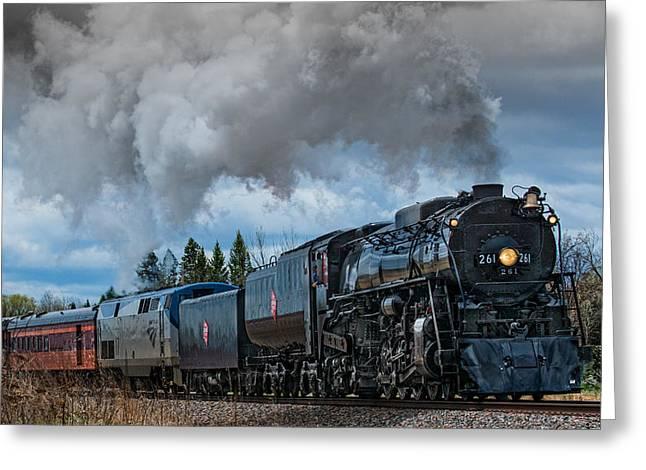 Steam Engine 261 Greeting Card