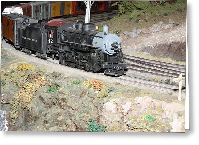 Steam Engine 42 Greeting Card by Hugh McClean
