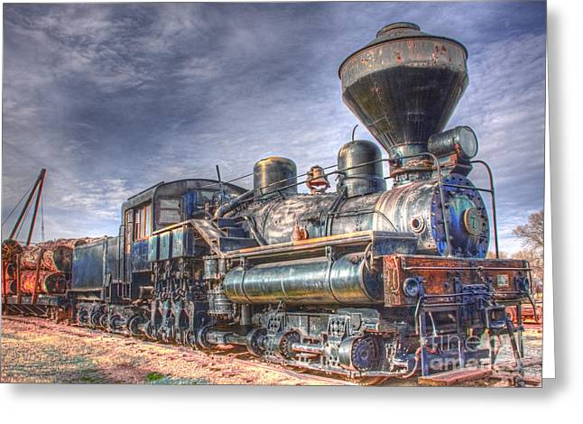 Steam Engine 7 Greeting Card by Katie LaSalle-Lowery