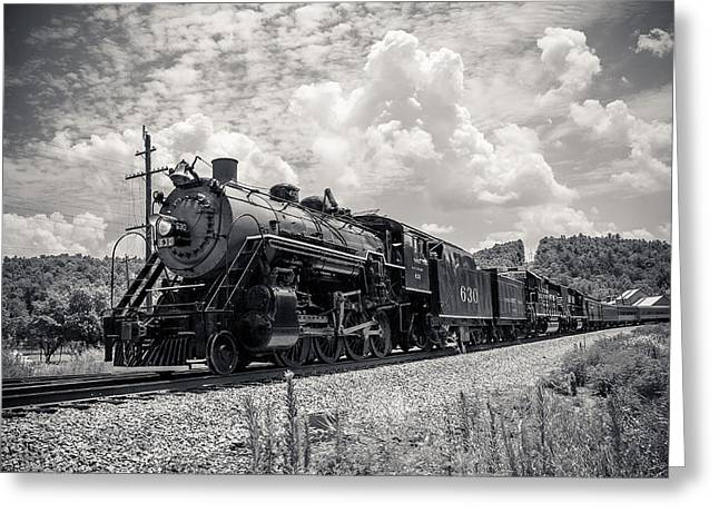 Steam Engine Greeting Card by Darrin Doss