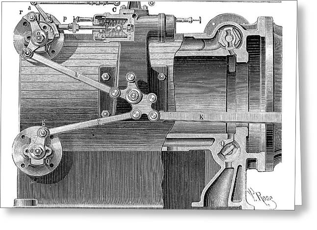 Steam Engine Distributors Greeting Card by Science Photo Library