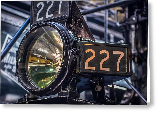 Steam Engine Headlight Greeting Card by Paul Freidlund