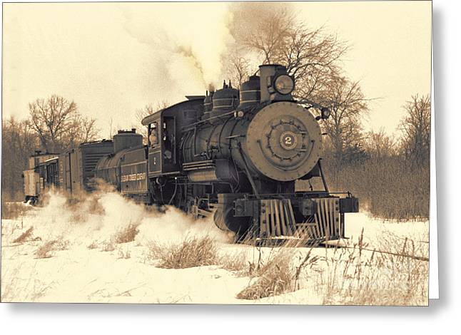 Steam Engine Number Two Greeting Card by Robert Kleppin