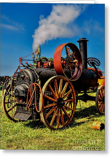 Steam Engine Greeting Card by Trey Foerster