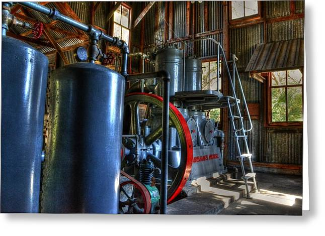 Steam Generator At Koreshan Greeting Card by Timothy Lowry
