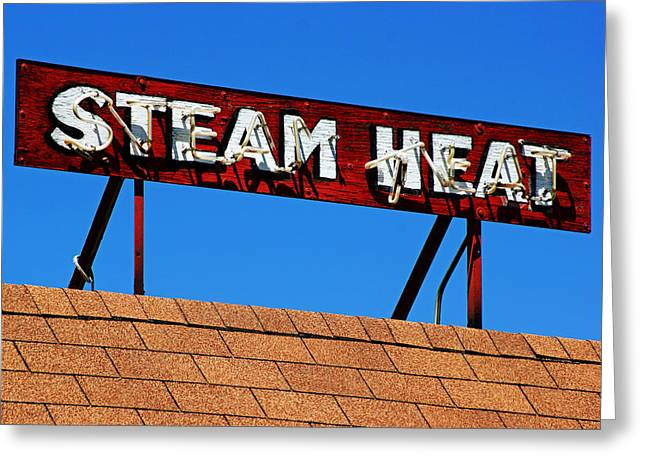 Greeting Card featuring the photograph Steam Heat by Daniel Woodrum