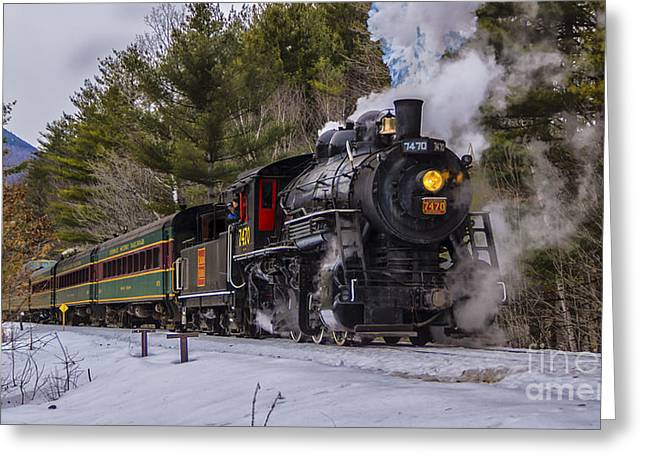 Steam In The Snow 2015 Greeting Card