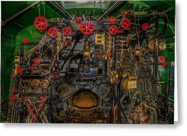 Steam Locamotive Controls Greeting Card