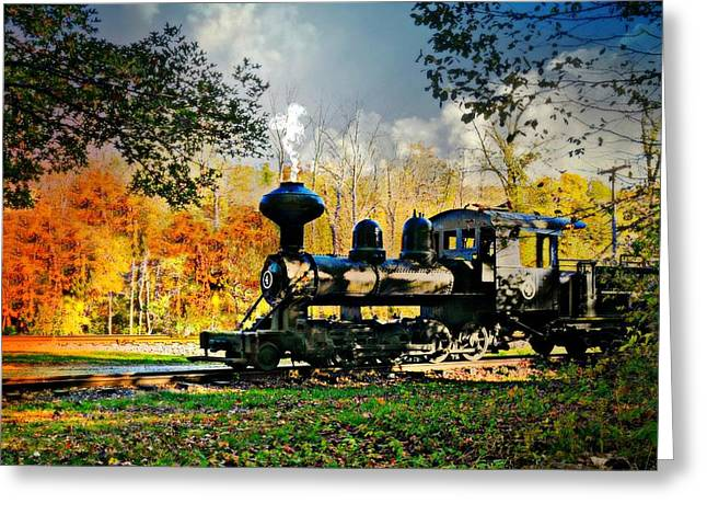 Steam Loco Circa 1909 Greeting Card by Diana Angstadt