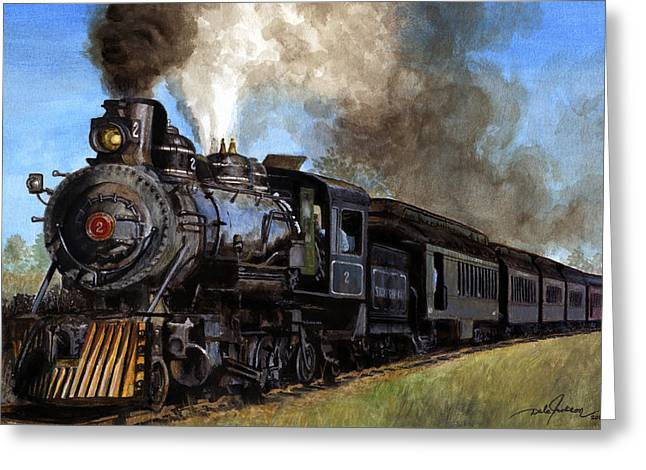 Steam Locomotive Greeting Card by Dale Jackson