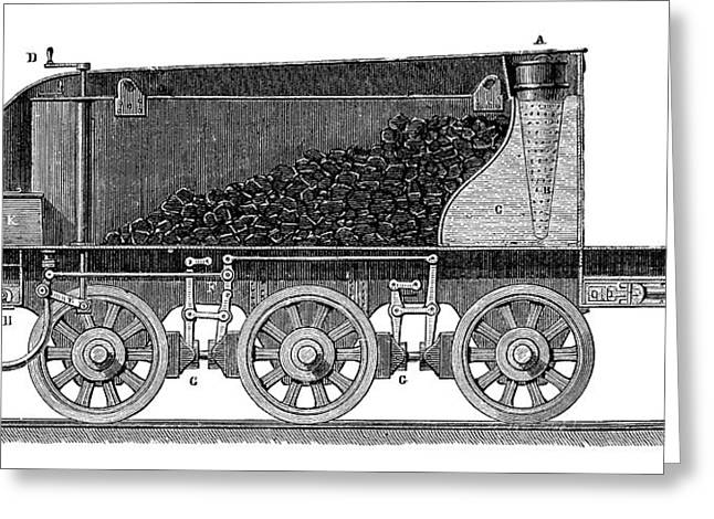Steam Locomotive Tender Greeting Card by Science Photo Library