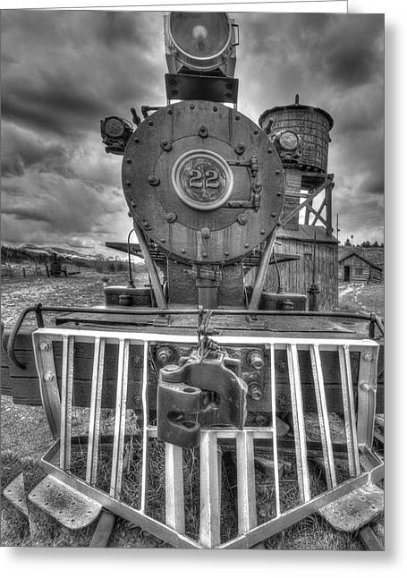 Steam Locomotive Train Greeting Card