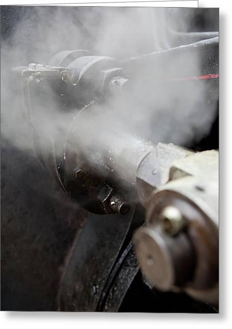 Steam Locomotive Valve Greeting Card