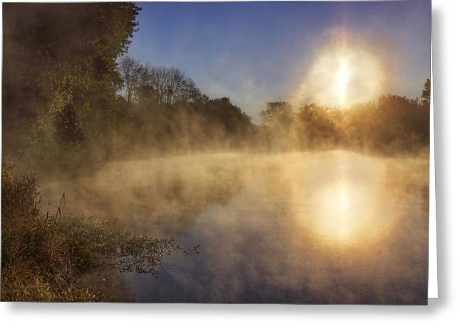 Steam On The Water Greeting Card by Jason Politte