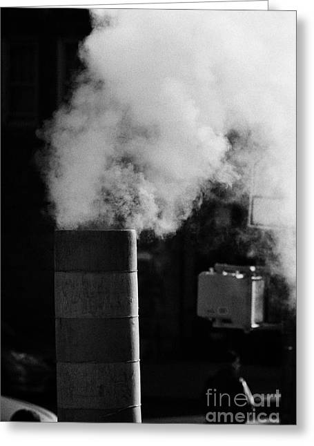 Steam Pipe Vent Stack New York City Greeting Card by Joe Fox