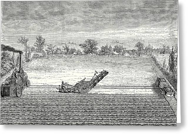 Steam Ploughing Greeting Card