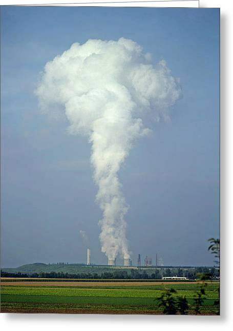 Greeting Card featuring the photograph Steam Plume by Rod Jones