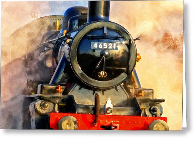 Steam Power Greeting Card by Michael Pickett