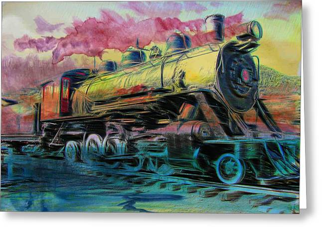 Greeting Card featuring the photograph Steam Powered by Aaron Berg