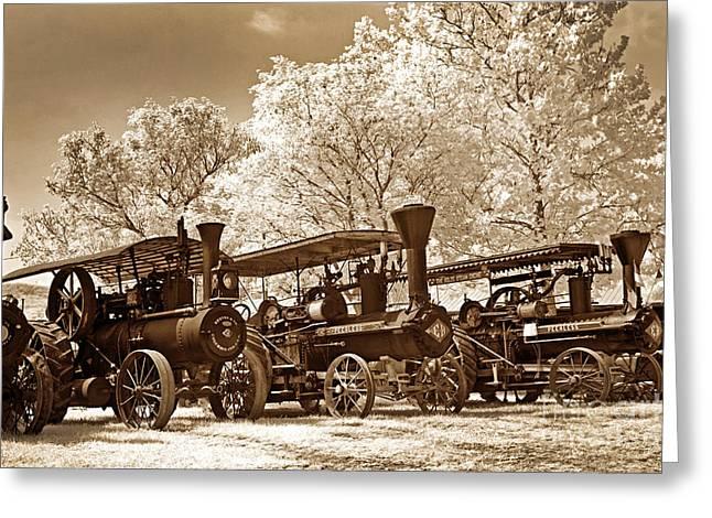 Steam Powered Farming Greeting Card