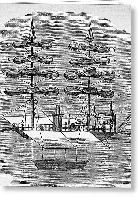 Steam-powered Helicopter Greeting Card