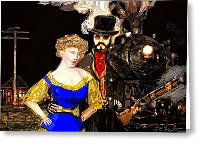Steam Punk Love Greeting Card by Larry Lamb