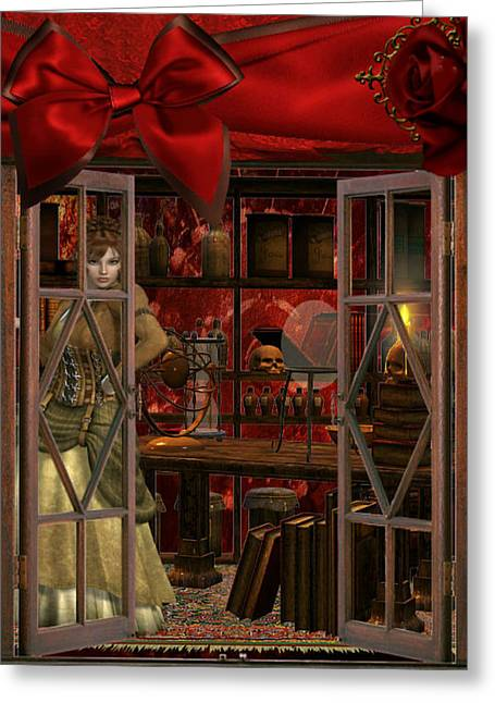 Greeting Card featuring the digital art Steam Punk Times by Digital Art Cafe