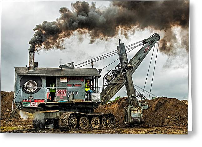 Steam Shovel Greeting Card by Paul Freidlund