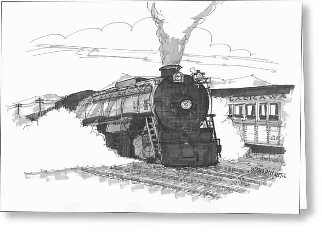 Steam Town Scranton Locomotive Greeting Card