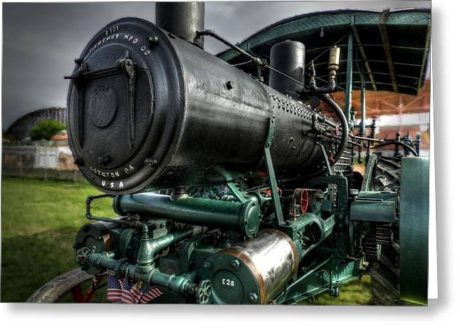 Steam Tractor 001 Greeting Card by Lance Vaughn