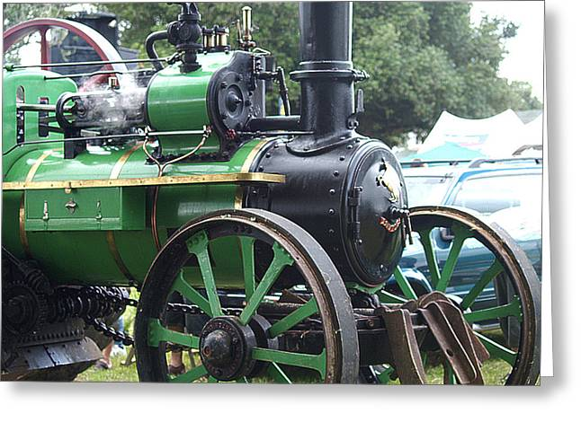 Steam Tractor Lives On Greeting Card by Patricia Howitt
