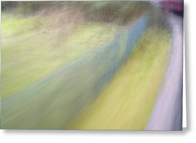 Steam Train Abstract Greeting Card by Natalie Kinnear