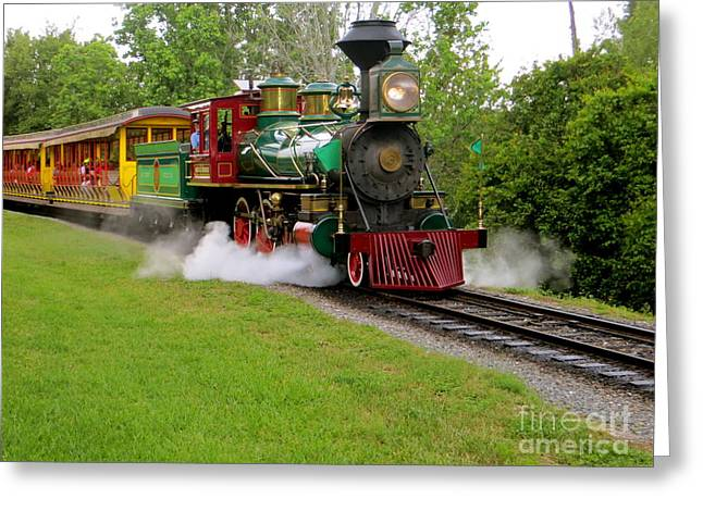 Steam Train Greeting Card by Joy Hardee