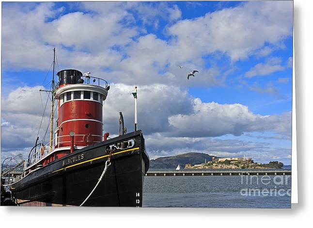 Greeting Card featuring the photograph Steam Tug Hercules by Kate Brown