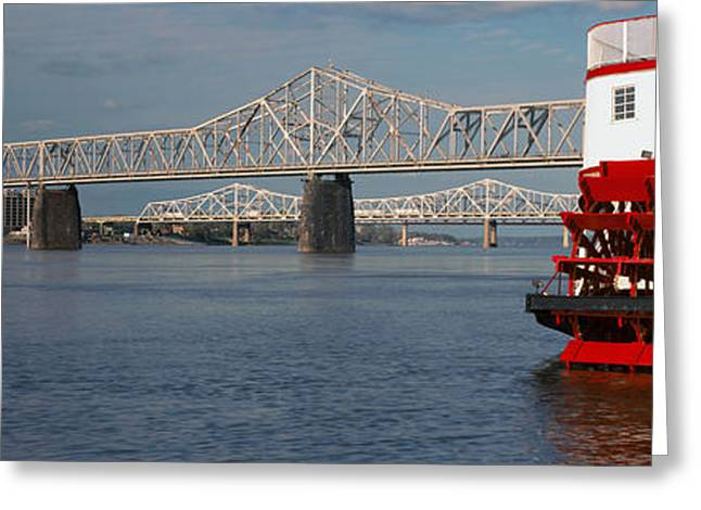 Steamboat Belle Of Louisville In Ohio Greeting Card by Panoramic Images