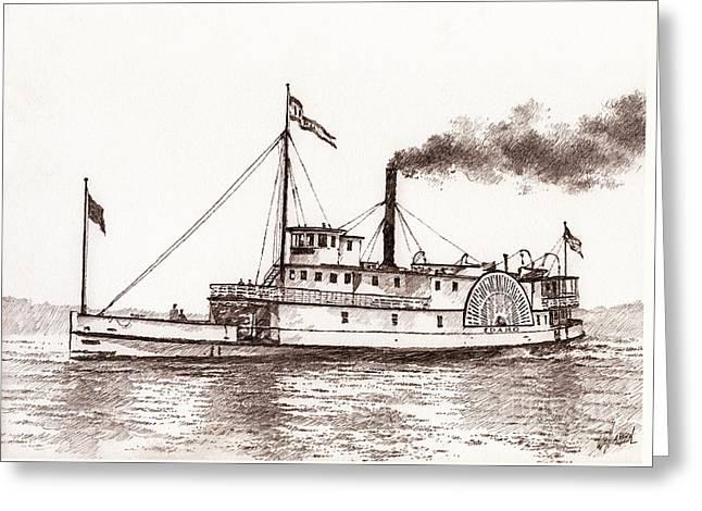 Steamboat Idaho Sepia  Greeting Card