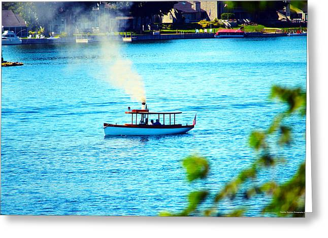 Steamboat On St. Lawrence River Greeting Card by Timothy Thornton