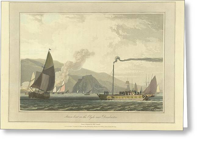 Steamboat On The River Clyde Greeting Card by British Library